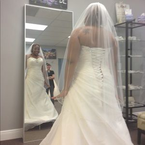 Never before worn wedding dress